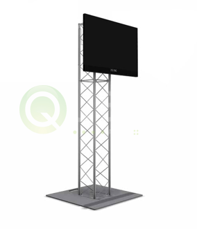 Truss TV Stand available for rent in Toronto with Quest Audio Visual