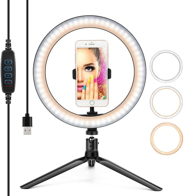 10″ LED Ring Light available for rent in Toronto with Quest Audio Visual