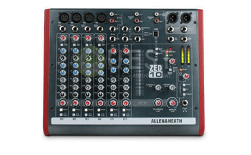 A&H ZED-10 4 Channel Mixer available for rent in Toronto with Quest Audio Visual