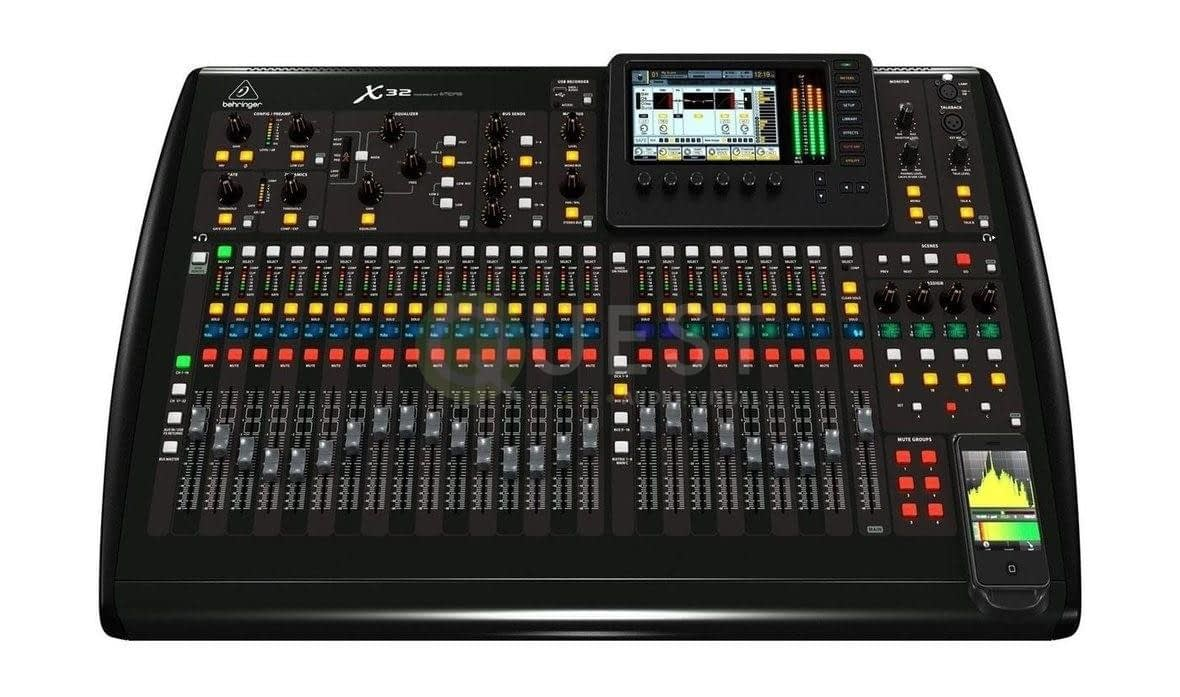 Behringer X32 Digital Console available for rent in Toronto with Quest Audio Visual