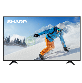 Sharp 55″ Class AQUOS 4K SMART TV available for rent in Toronto with Quest Audio Visual