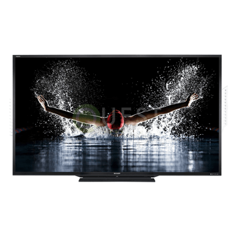 Sharp LC 90″ AQUOS LED HD TV available for rent in Toronto with Quest Audio Visual