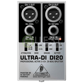 Behringer DI20 Stereo Direct Box available for rent in Toronto with Quest Audio Visual
