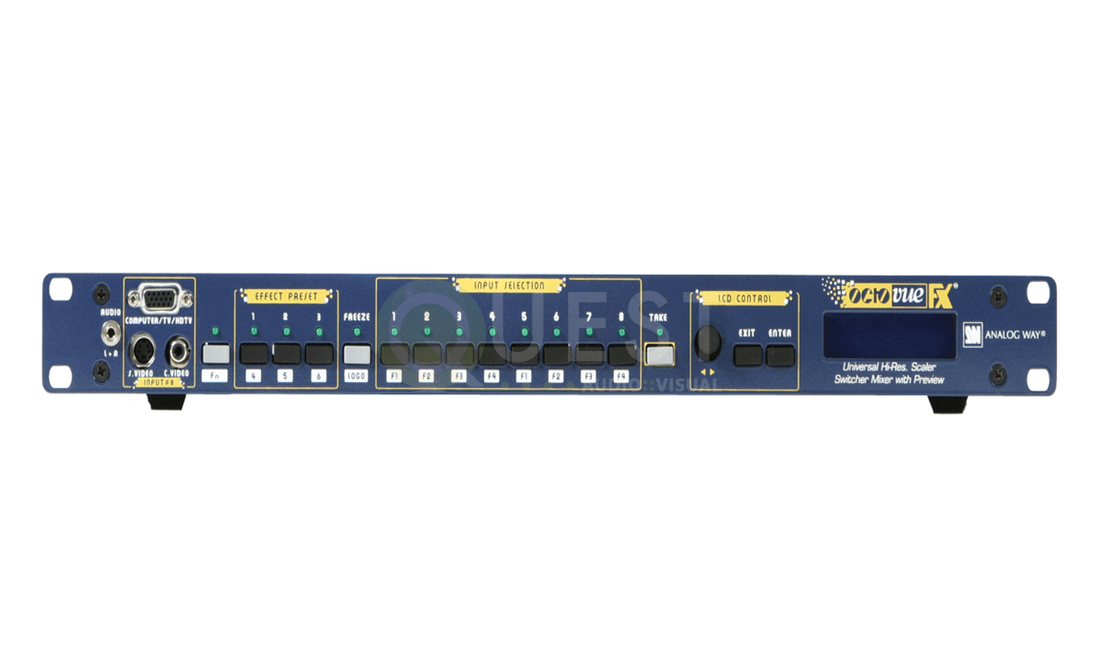 Analog Way Octo Quattro Vue FX Video Switcher available for rent in Toronto with Quest Audio Visual